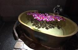 露天風呂の演出